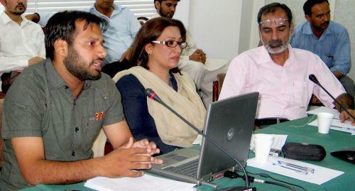 (L to R): Shakil Imran Badar (IPS), Shazia Haris (ERRA), Khalid Rahman (IPS)