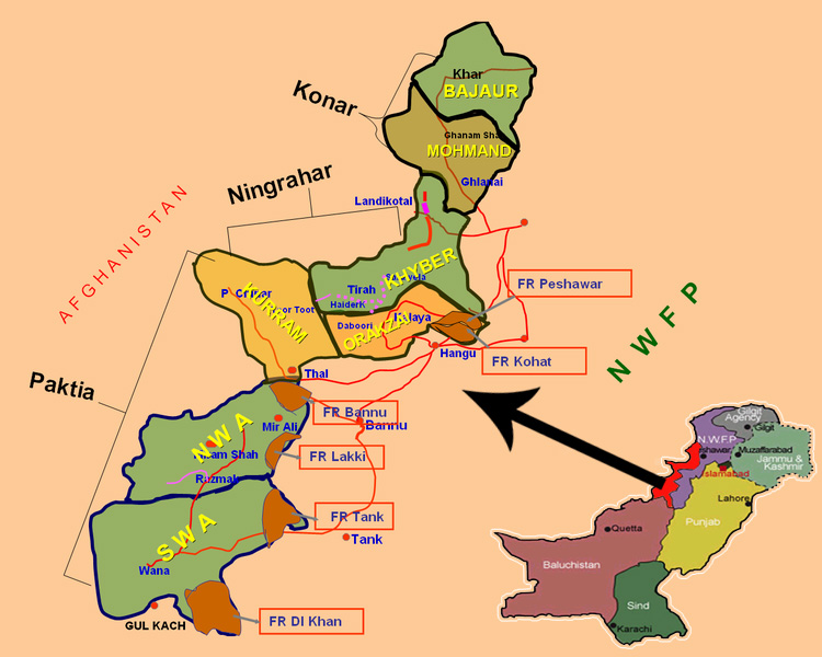 Situation In FATA Causes Consequences And The Way Forward - Kohat map