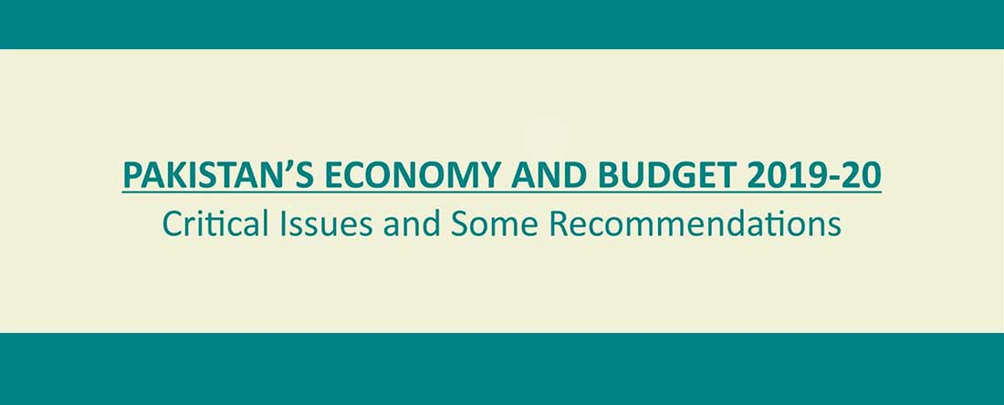 Pakistan's Economy and Budget 2019-20: Critical Issues and